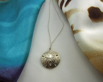 Sand Dollar Sterling Silver Necklace