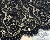 Black lace fabric, Gorgeous black Lace Fabric, chantilly lace fabric, flower pattern lace