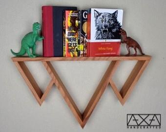 Mountain Shelf, wood triangle shelf, floating shelves, entryway organizer, Bathroom Shelf, kitchen shelving, Gift for Her, modern furniture
