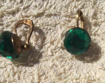 Vibrant green earrings