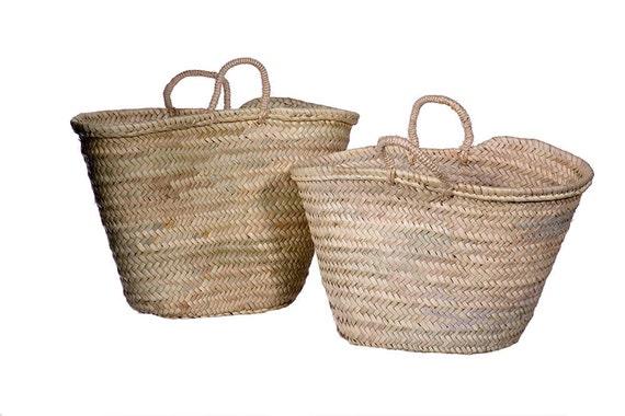 Handmade Market Baskets : Handmade moroccan market basket mother and daughter set