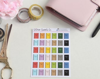 Black Ring Planner Stickers