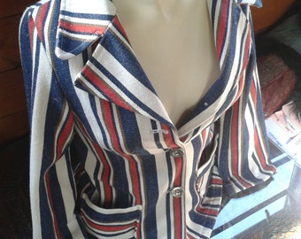1980s jacket, Union Jack style ~ adult size small or 140