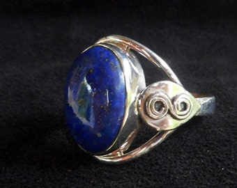 Handmade sterling silver liapis lazuli ring/silver 92,5 liapis lazuli ring/silver 92,5 ring with liapis lazuli/silver talisman liapis ring