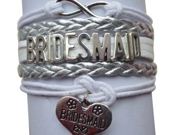 Bridesmaid Gift Jewelry- New Bridal Party Bracelet- Perfect Bridesmaids Gift!!!