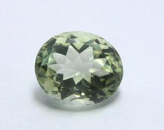 9.30 Ct Natural Green Amethyst /Prasiolite Oval Gemstone