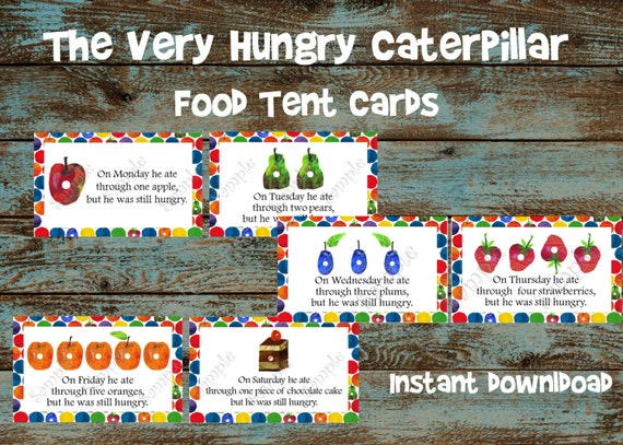 The Very Hungry Caterpillar Food Tent By 954onlineinvitations