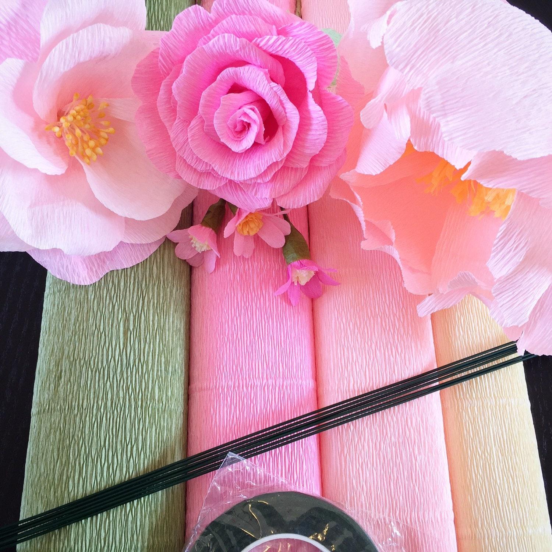 DIY Crepe Paper Flower Kit Italian Crepe Paper By
