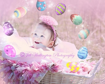 Digital Easter Egg Overlay, png, Easter eggs overlay, Easter, pastels for photographers, photography, photos