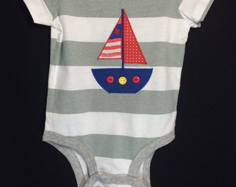 Sailboat Bodysuit/Onesie