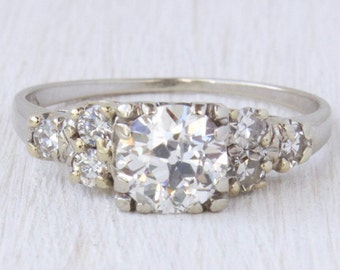 SOLD Sophia 0.88 ct Old European Cut Diamond Engagement Ring