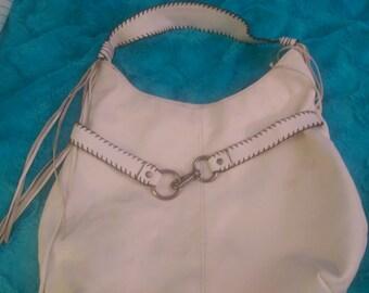 Nine west large white summer shoulder bag