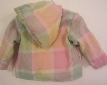 Toddler jacket - vintage wool blanket, sunshine sprinkles