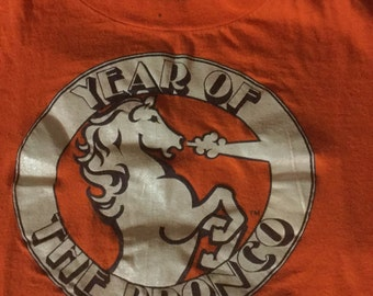 Vintage 1970's Denver Broncos T-shirt The Year of The Bronco