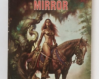 Demon in the Mirror, Vintage Paperback Book, Fantasy, Lady Pirate, Adventure Story, First Pocket Book Printing, 1978