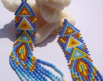 Peryshka-Beaded earrings