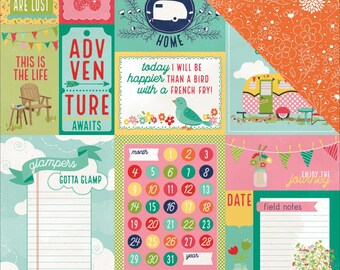 Happy Glamper Cardstock by Photo Play Paper Company, Journal Cards