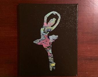Ballerina canvas art