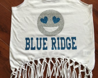 SALE! Camp BLUE RIDGE Fringe Heart Eyes Tank