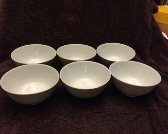 """Lot of 6 Williams Sonoma Grande cuisine 2.5"""" small white bowls"""