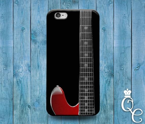 iPhone 4 4s 5 5s 5c SE 6 6s 7 plus iPod Touch 4th 5th 6th Gen Cool Red Guitar Neck Black Custom Music Rock n Roll Phone Cover Cute Case