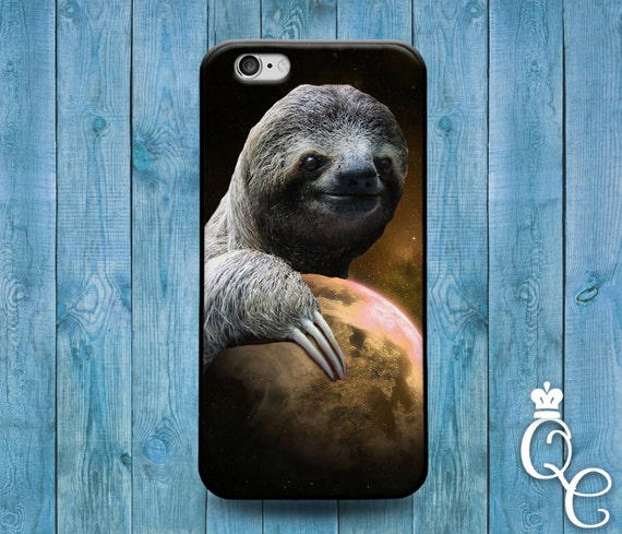 iPhone 4 4s 5 5s 5c SE 6 6s 7 plus iPod Touch 4th 5th 6th Gen Cover Custom Sloth Planet Space Weird Smile Animal Phone Cute Funny Fun Case