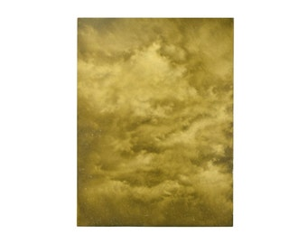 Abstract Sepia Tone CloudScape Painting Skyscape Chicago Artist Kopala #24