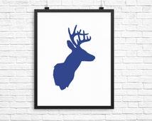 Deer Antler Wall Print, Deer Print, Forest Animal Wall Print, Forest Animal Wall Art,  Instant Wall Prints, Instant Download, Deer Antlers