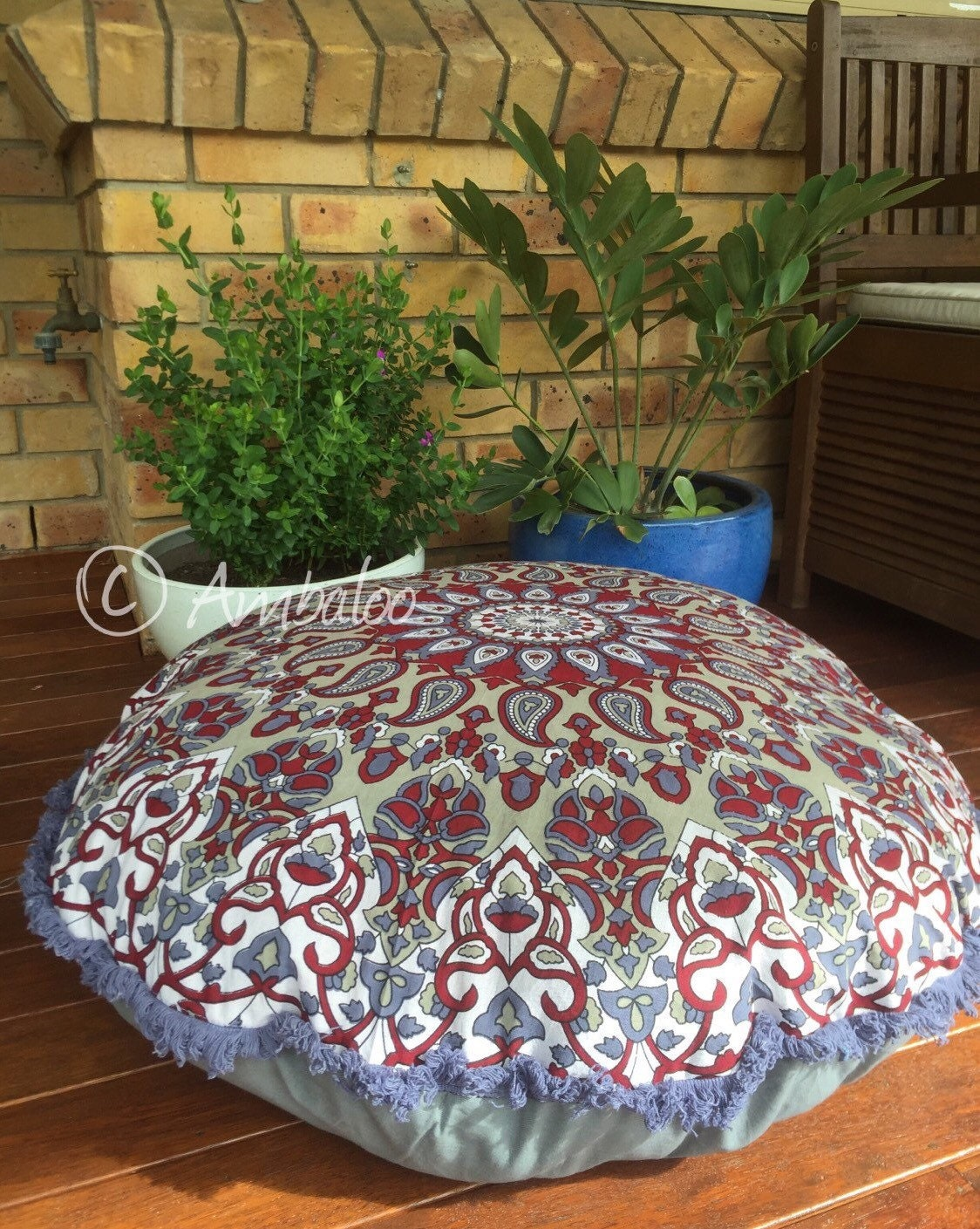 Large Floor Cushions Dog bed Meditation Dog Bed pillow by Ambaloo