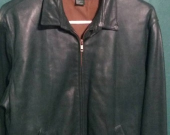 Leather green jacket