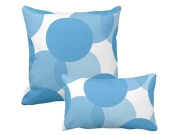 Geometric pillow, Blue pillow, Polka Dots pillow, Modern Home Decor, Scandinavian design, Nordic Nursery decor, Abstract pillow, Kids Room