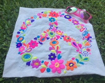 DIY embroidery Peace pattern kit