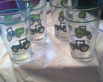 John Deere Pub Pint Glasses