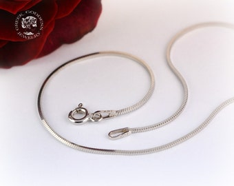 sterling silver chain, snake chain, silver snake chain, chain for pendants, chain, silver chain, chain, sterling silver chain