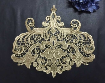 Baroque lace collar etsy for Luminaire baroque