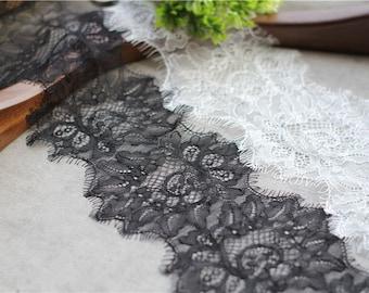 Eyelash Lace Trim ,Handmade DIY Material ,Lace Trim for DIY ,11CM Wide 3 meters length per pc