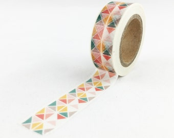 Modern Bauhaus Style Triangle Washi Tape// 15mm // Paper Tape // BBBsupplies {CR-W-P334}