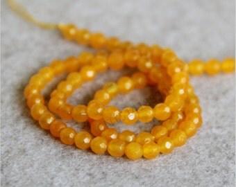 Faceted Brazilian Topaz Gemstones 4mm,  Faceted Gemstone Beads
