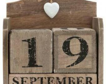 Wooden calendar
