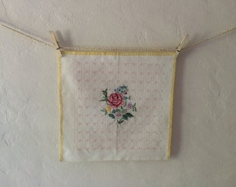 Rose floral cross stitch