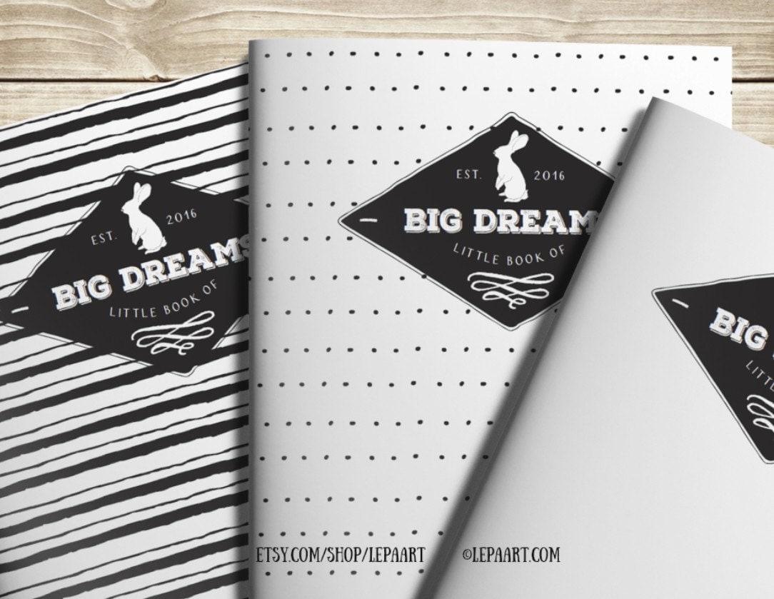 Diy Notebook Calendar : Daily planner notebook printable dream big little diy