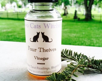 Four Thieves Vinegar, Hoodoo Ritual Vinegars, Banishing, Protection, Handmade Voodoo Supplies