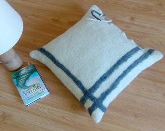 Floor cushion, Pouf ottoman, Felt pouf, Floor pillow, Living room decor, Felt pillow, straws&lavender stuffing