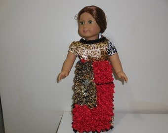 gown, red, black, gold,leopard print 94