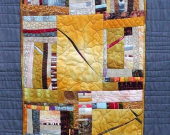 Deep Wells - Abstract Textile Art