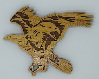 Nature's Majesty Eagle Plaque - Canarywood & Walnut
