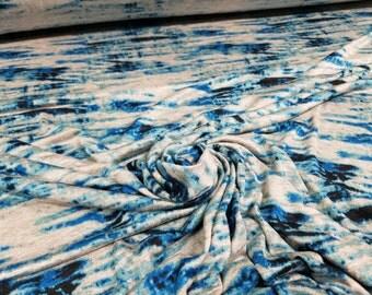 Sky Blue Lagoon Rayon Spandex