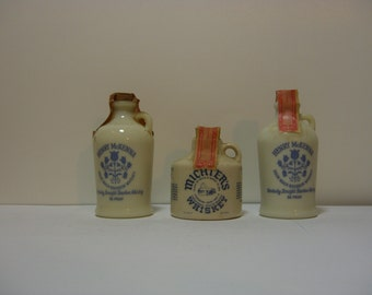Miniature Liquor Bottle or Jug - Henry McKenna and Michter's - Three Jugs