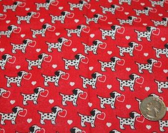 Adorable Puppy Love Valentine's Day Fabric - Cotton