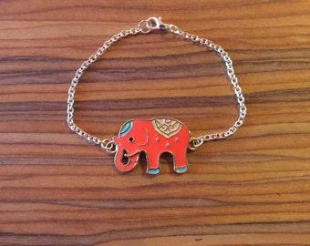 Orange Elephant Bracelet